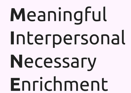 Meaningful Interpersonal Necessary Enrichment